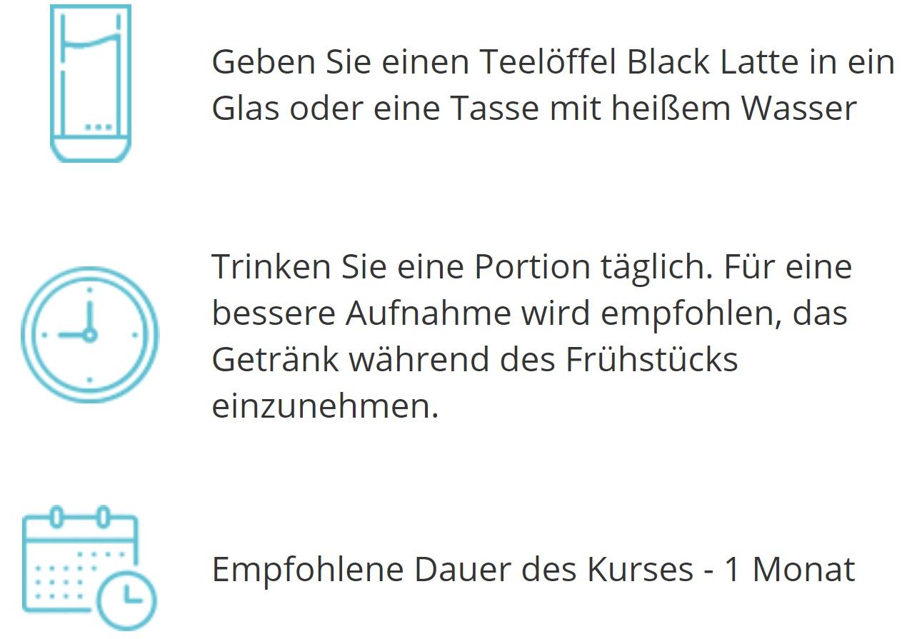 Black-Latte-Verwendung