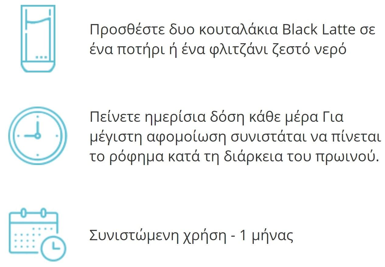 black-latte-τρόπος-χρήσης