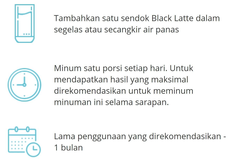 Black-Latte-Cara-penggunaan